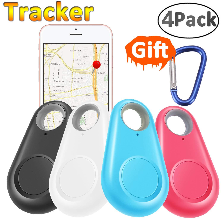 GBD Smart Finder Locator Pet Tracker Alarm for Key Wallet Car Kids Dog Cat Child Bag Phone Selfie Shutter Wireless Seeker Anti Lost Sensor Outdoor Travel Camping Birthday Gift (4 Pack)
