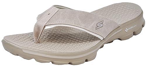 e61e43ebca4c9 Skechers Men's Go Walk-Stag Flip Flops: Amazon.co.uk: Shoes & Bags