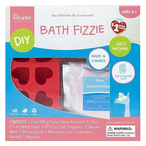 Kiss Naturals Bath Bombs - DIY Bath Bomb Kit - 100% Natural and Organic  Bath Bombs for Kids