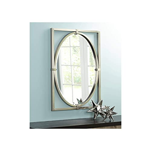 Uttermost Akita Brushed Nickel 24 x 34 Wall Mirror