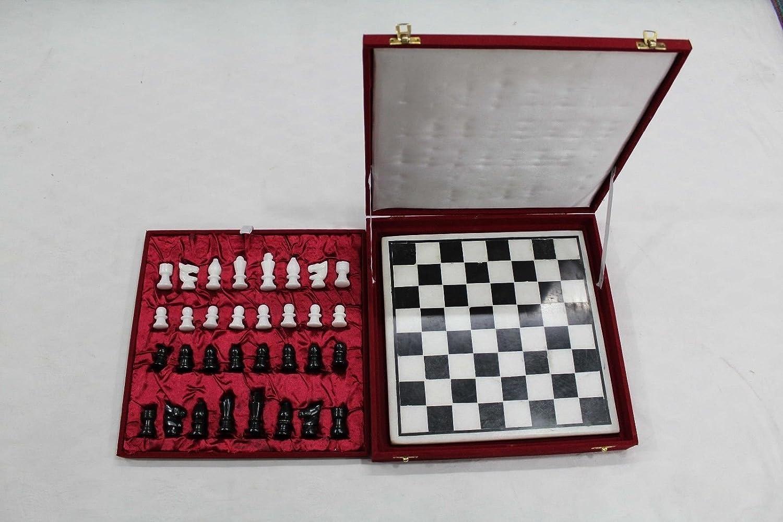 Rajathan Gems Natural India - - - Juego de ajedrez, diseño de piedras de mármol 188fc3