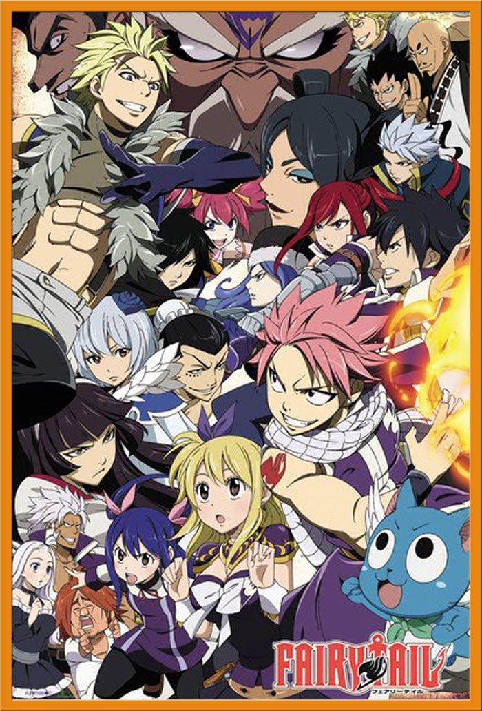 Manga Anime Serie Poster Plakat Druck 1 /Ü-Poster der Gr/össe 61x91,5cm Fairy Tail Kono Subarashii Gr/ö/ße 61x91,5 cm Season 6 Key Art