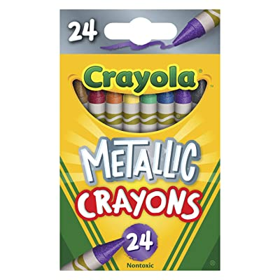 Crayola Metallic Crayons, 24Count: Toys & Games