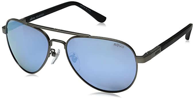 fba6517fe0b Amazon.com  Revo Raconteur Re 1011gf Polarized Aviator Sunglasses ...