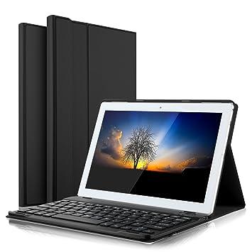 IVSO Teclado Estuche para Lenovo Tab4 10 [QWERTY], Slim Stand Funda con Removible