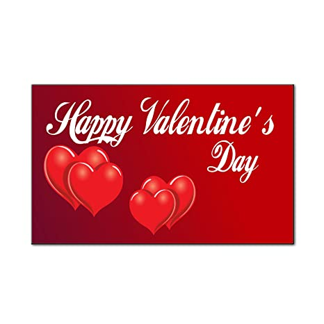 Amazon Com Happy Valentine S Day Red Hearts Car Door Magnets