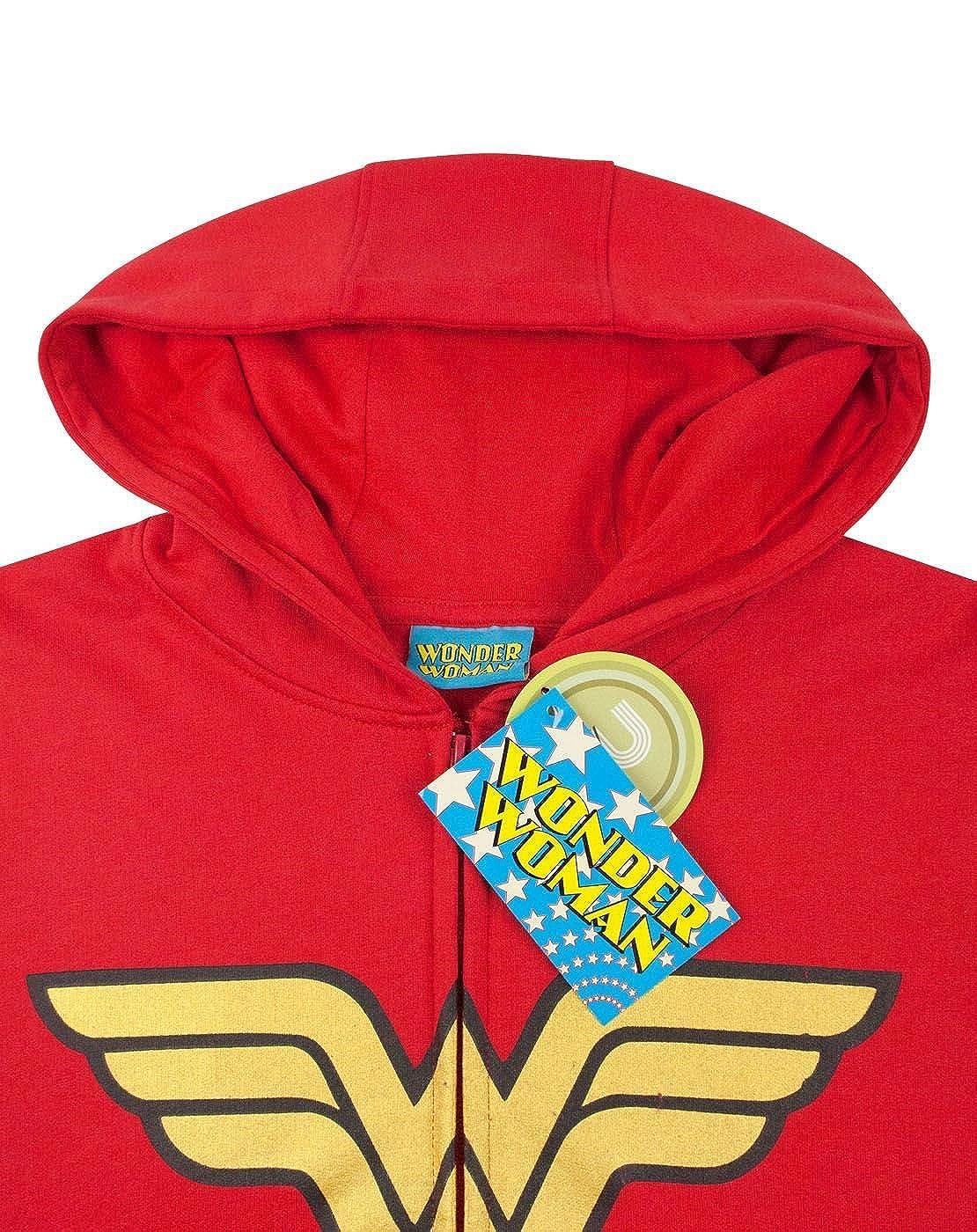 Wonder Woman Logo Womens Zip-Up Hoodie