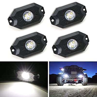 4 pcs Rock Light 2 Inch CREE LED JEEP Wrangler Off-Road Under Wheel Light White crawler crawling: Automotive