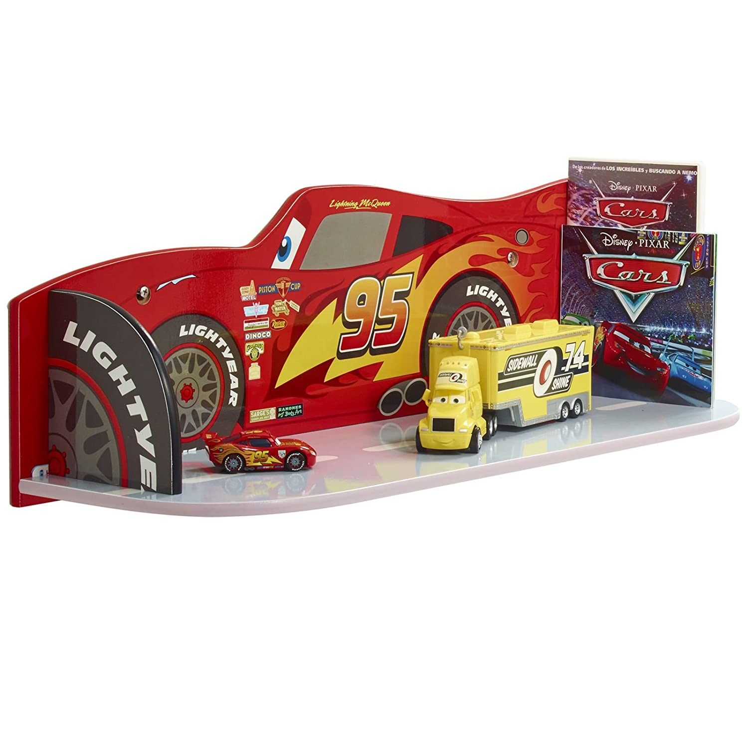 Lightning Mcqueen Bedroom Furniture Disney Cars Lightning Mcqueen Kids Bedroom Book Shelf By Hellohome