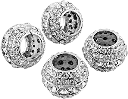 Astra Depot Pair of Universal Diamond Bling Crystal Headrest Collar Interior Head Rest Pole D/Ãcor