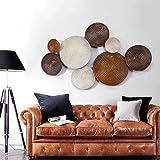 Wanddekoration Einfache Stil Kreative Eisen Wandbehänge Dreidimensionale  Wand Dekoriert Wohnzimmer Hintergrund Wand Anhänger (Style Optional