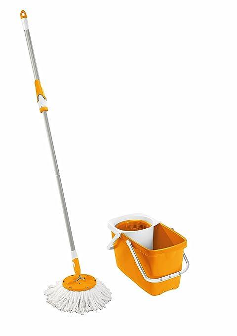 2 opinioni per Leifheit, Set mocio rotante per pulizia pavimenti, Giallo (Gelb)
