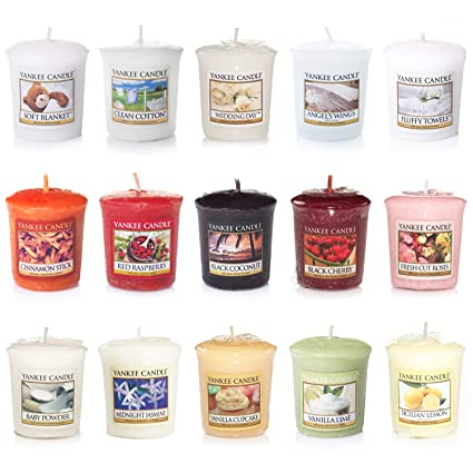 Candele Yankee Candle.Yankee Candle Votive Value Bundle With 15 Votive Scented Candles Mixed Popular Fragrances