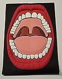 "Mouth Rubber Matt Model for Dentist, Speech or Voice Education 8""t X 5 1/2""w"