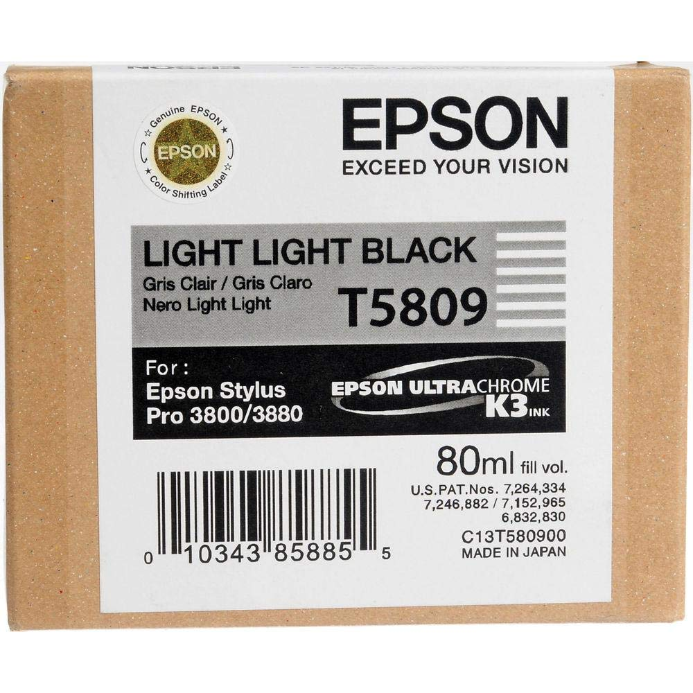 Epson C13T580800 - Cartucho de tinta, color negro mate: Amazon.es ...