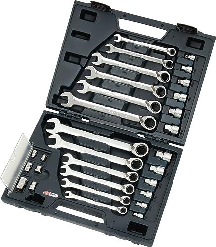 KS Tools 503.4960 Pack Llaves combinadas con carraca Reversible Gear (tamaño: 8-19 mm), Set de 30 Piezas: Amazon.es: Zapatos y complementos
