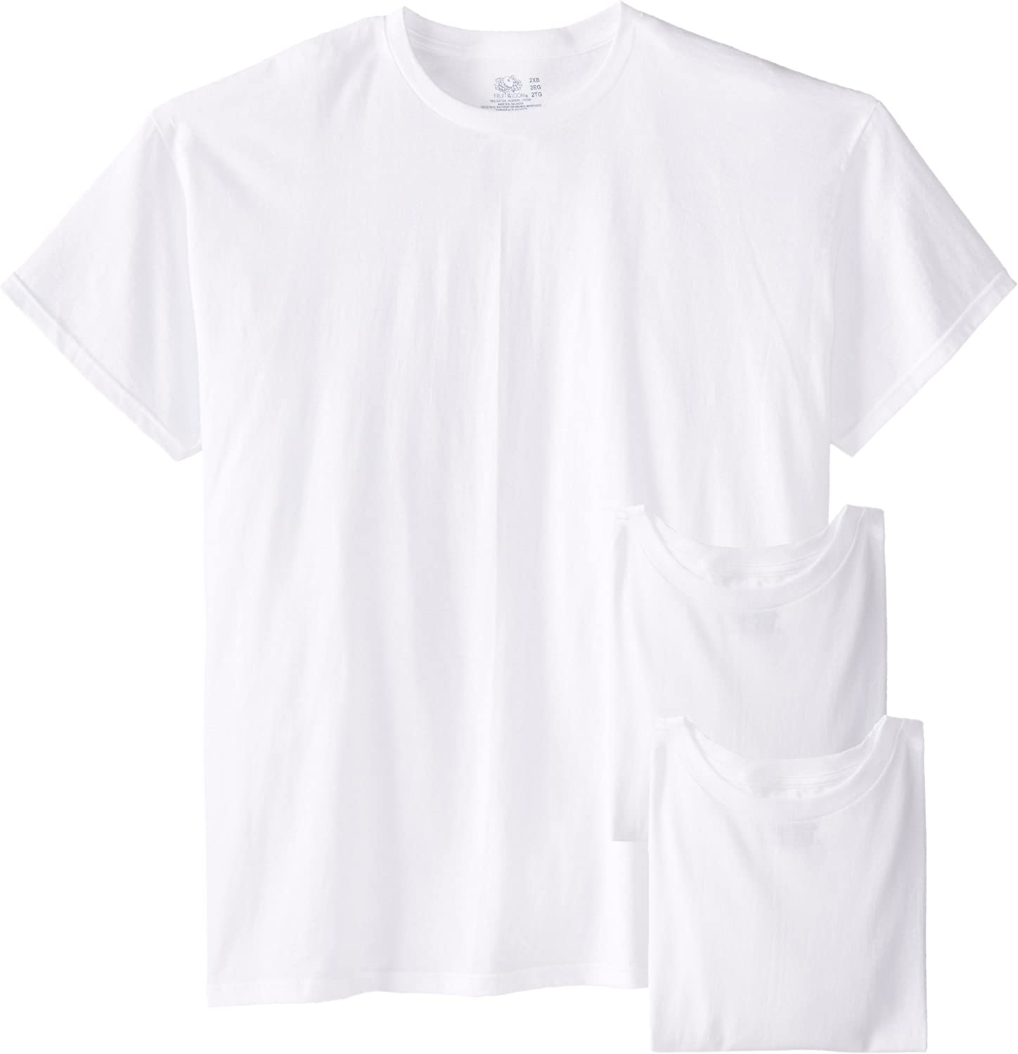 Fruit of the Loom Men's Big Size Crew T-Shirts (Pack of Three) |
