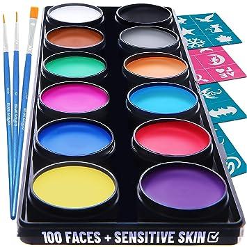 Amazon.com: Kit de pintura facial azul calamar | Pintura ...