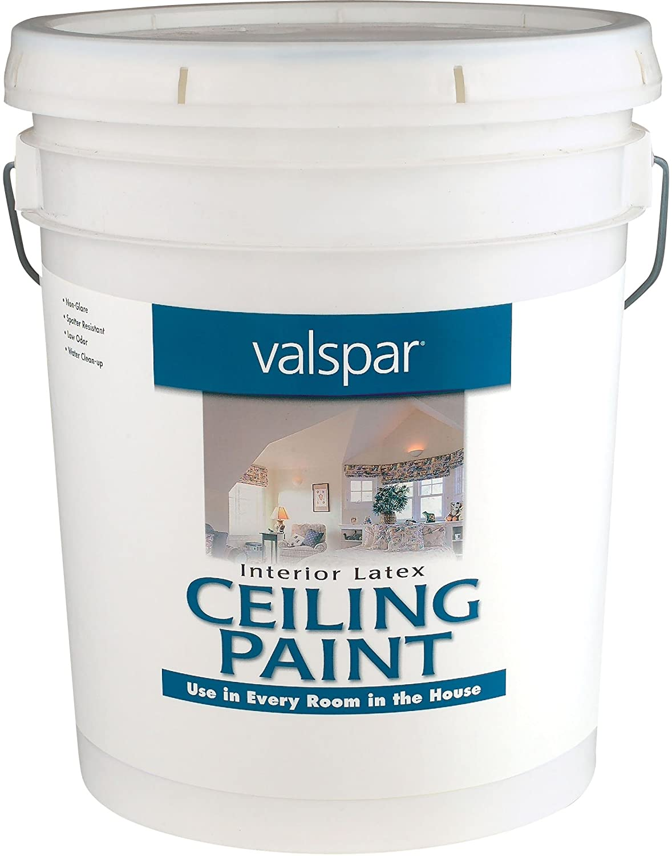 ceiling white paintAmazoncom Valspar 1426 Interior Latex Ceiling Paint 1Gallon
