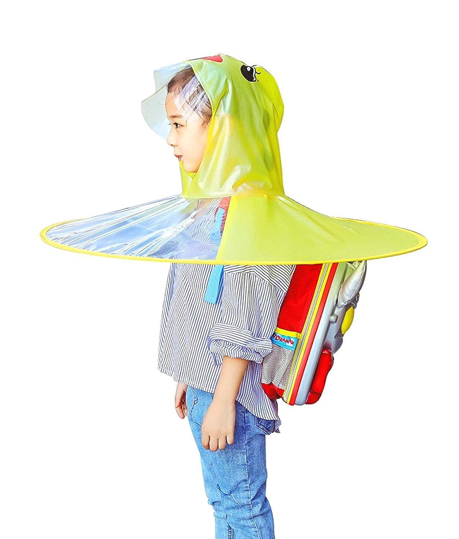 c48aac45da442 Amazon.com  Children s Duck Raincoat UFO Raincoat Children Umbrella Cartoon  Cloak for Kids Adult Outdoor Play Supplies Yellow  Clothing