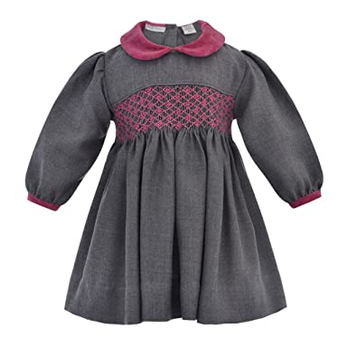 Amazon Com Carriage Boutique Baby Girls Long Sleeve Hand Smocked