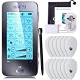 RAKZU Touchscreen Tens Unit, Dual Channels TENS EMS Electro Muscle Stimulator Unit Fully Isolated with Independent 12…