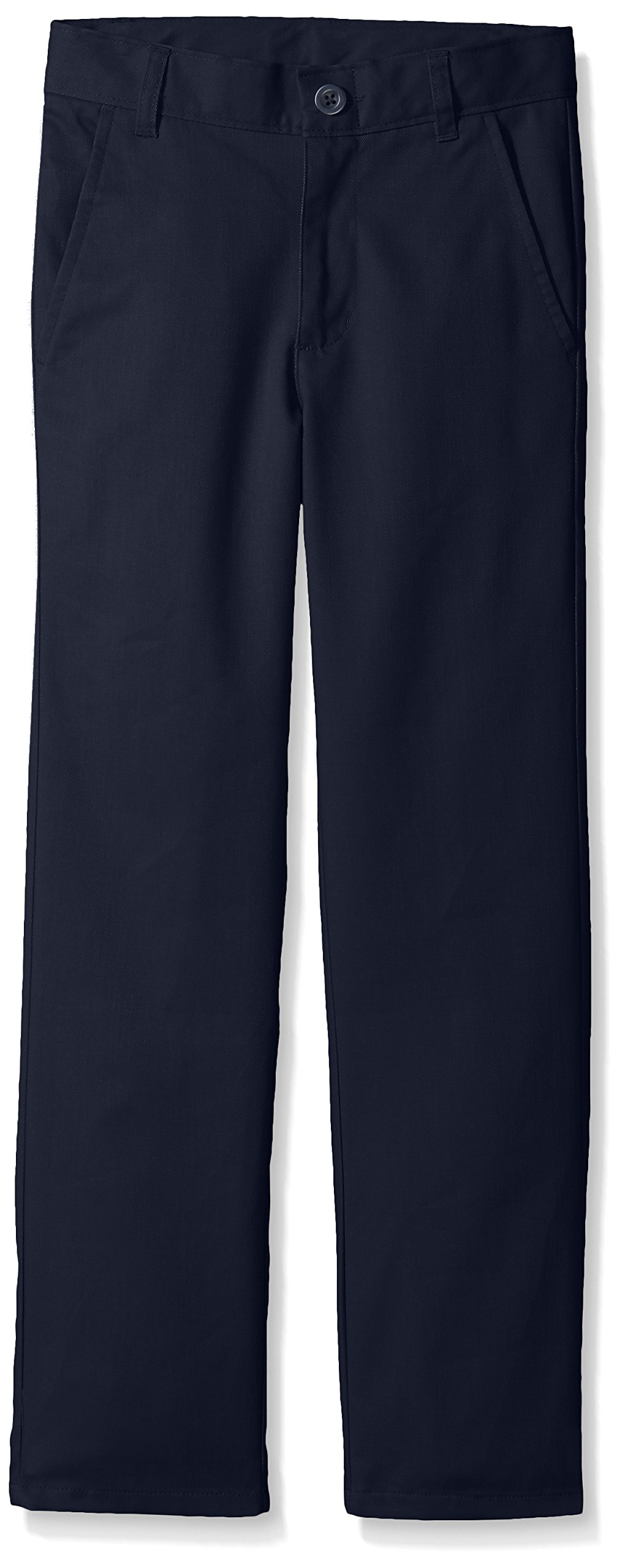 Nautica Boys' Flat Front Twill Double Knee Pant,NAVY,14S by Nautica