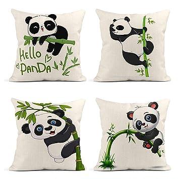cute panda cushion cover pillowcase decorative pillows covers couch throw