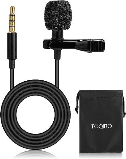 Micrófono de Solapa TOQIBO Omnidireccional Lavalier Micrófono de ...