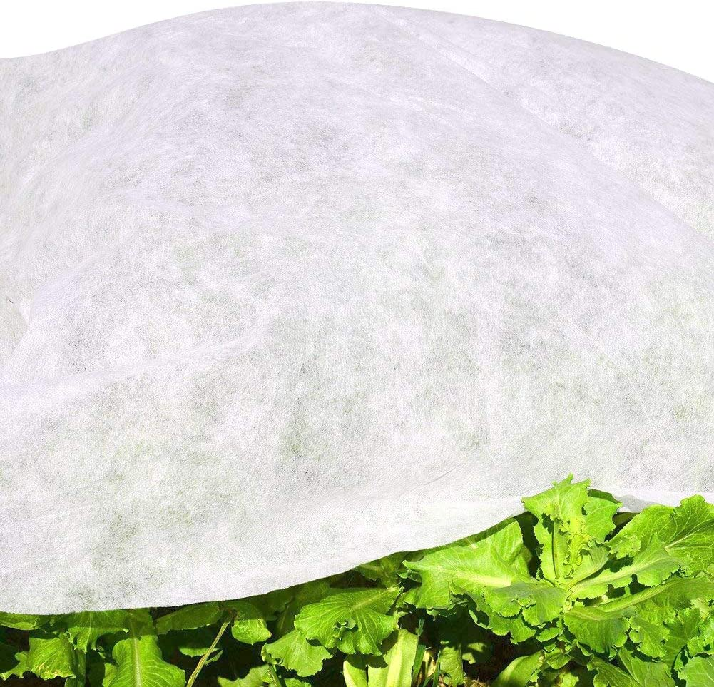 6.5'x50' Garden W-20G Plant Protection Non-Weave Fabric Blanket Against Snow Frost Hail Insect