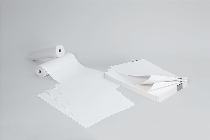 SIGEL TP211 Rollo de papel térmico continuo, Premium, 76 g, 6 rollos, 100 hojas DIN A4 por rollo, para impresoras Brother Serie PJ: Amazon.es: Oficina y papelería