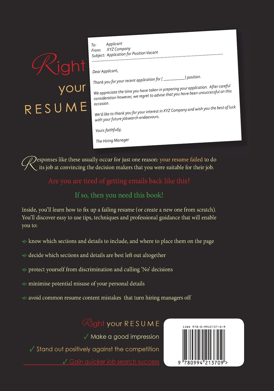 Right Your Resume Fix or create your resume content so you stand