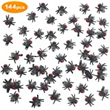 COOKY.D 144pcs Black Fake Plastic Flies Toys Insect Fly Joke Toy for Halloween Prank Party