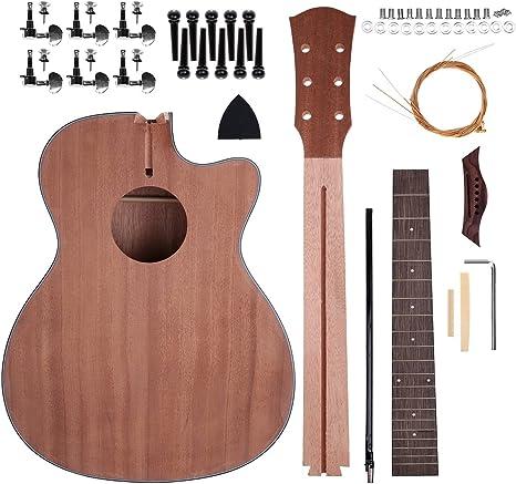 Shsyue® Kit de la Guitarra de DIY, 40 Guitarra Acústica Haga su ...