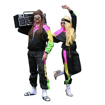 Anladia maboobie Deguisement Costume Tenue Unisexe Homme Femme Survetement Annee  80 118 218 Shellsuit Hip Hop 73befd75295