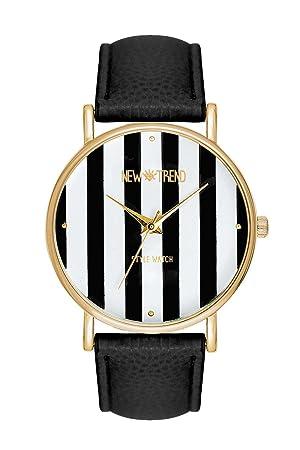 Reloj mujer RELOJ DE pulsera acero inoxidable reloj Relojes Günstig rayas color negro oro Ancla Blogger Trend rosas Designer Dalas Mingbo Bijou la bohème ...