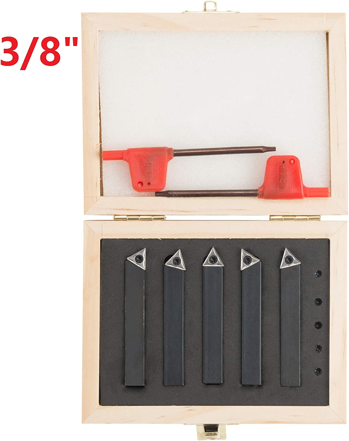 "10pcs 3//8 boring bar+1//4/"" 5Pcs Indexable Mini Quick change tool post holder set"