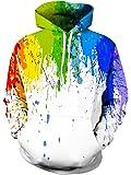 Leapparel Unisex 3D Druck Hooded Kapuzenpullover Langarm Casual Sweatshirt für Herren und Damen S-4XL