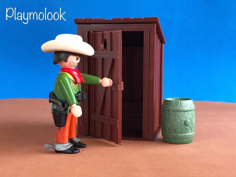 Letrina oeste western miniatura impresión 3d - Escala ideal ...