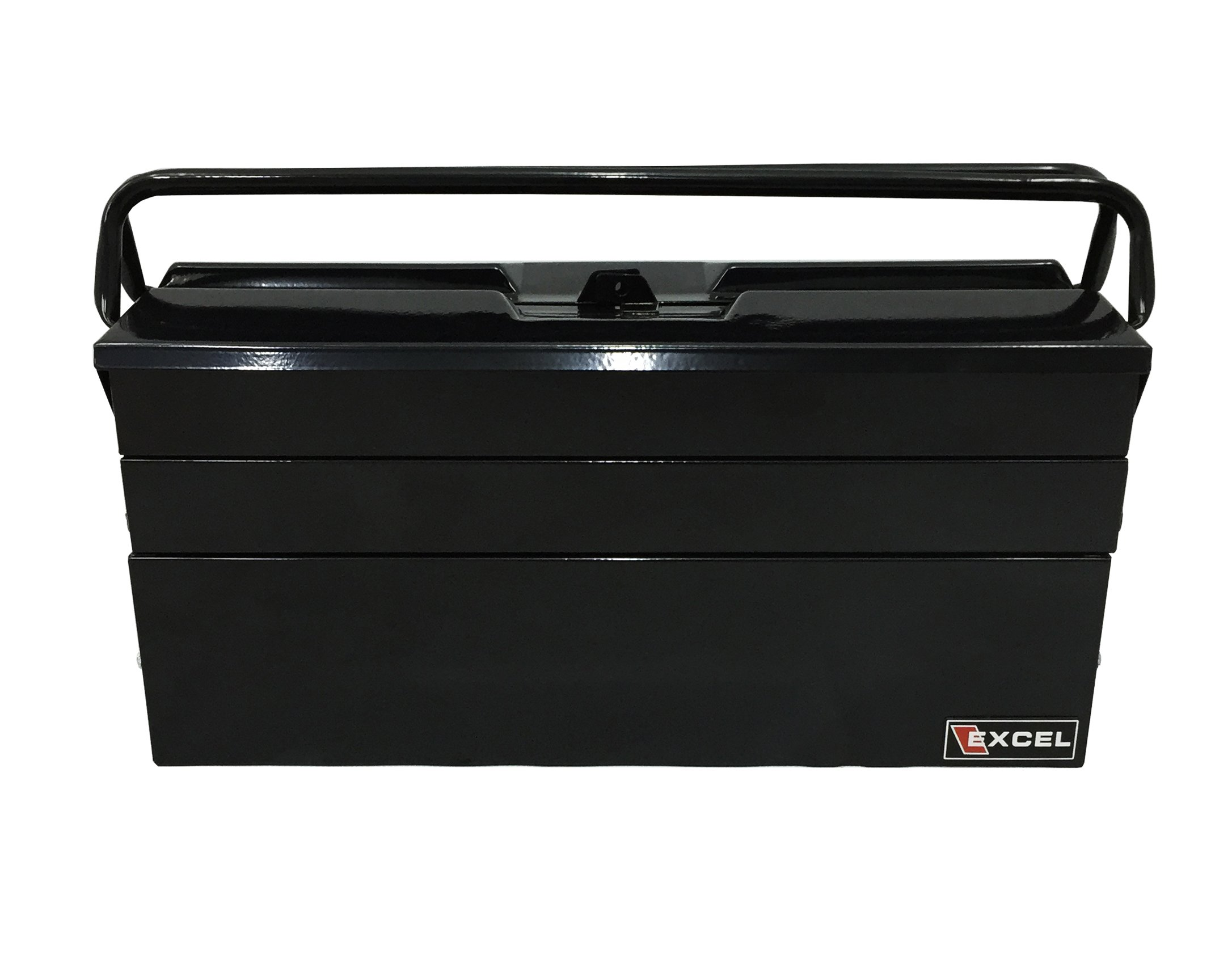 Excel TB122B-Black 19-Inch Cantilever Steel Tool Box, Black