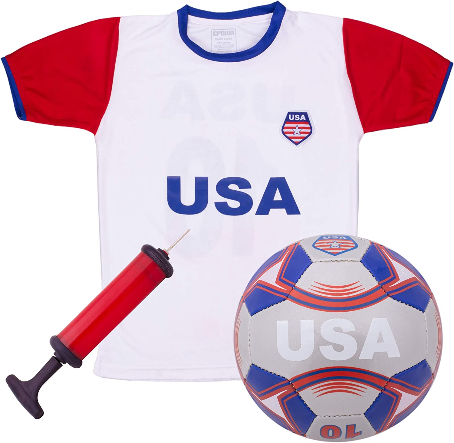 INC Team USA World Cup 2018 United States Youth Soccer Jersey Pick Boys OR Girls ICON SPORTS GROUP Shorts Soccer Ball