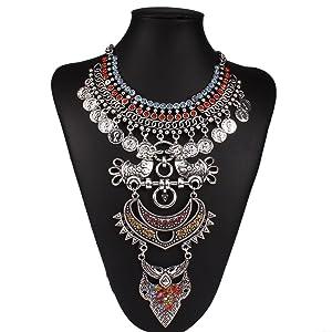 Diamonds Explosion models exaggeration fashion retro false collar necklace