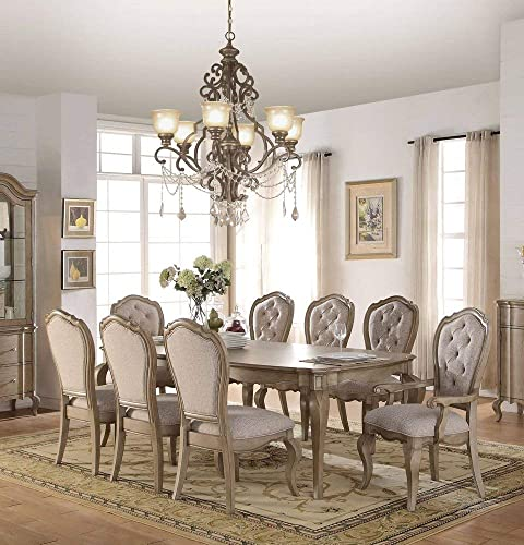 ACME Chelmsford Antique Taupe Dining Table