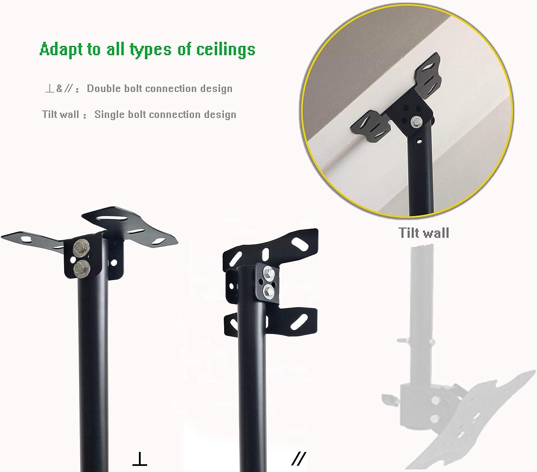 Adjustable Ceiling TV Mount Bracket Fits Most 14-42