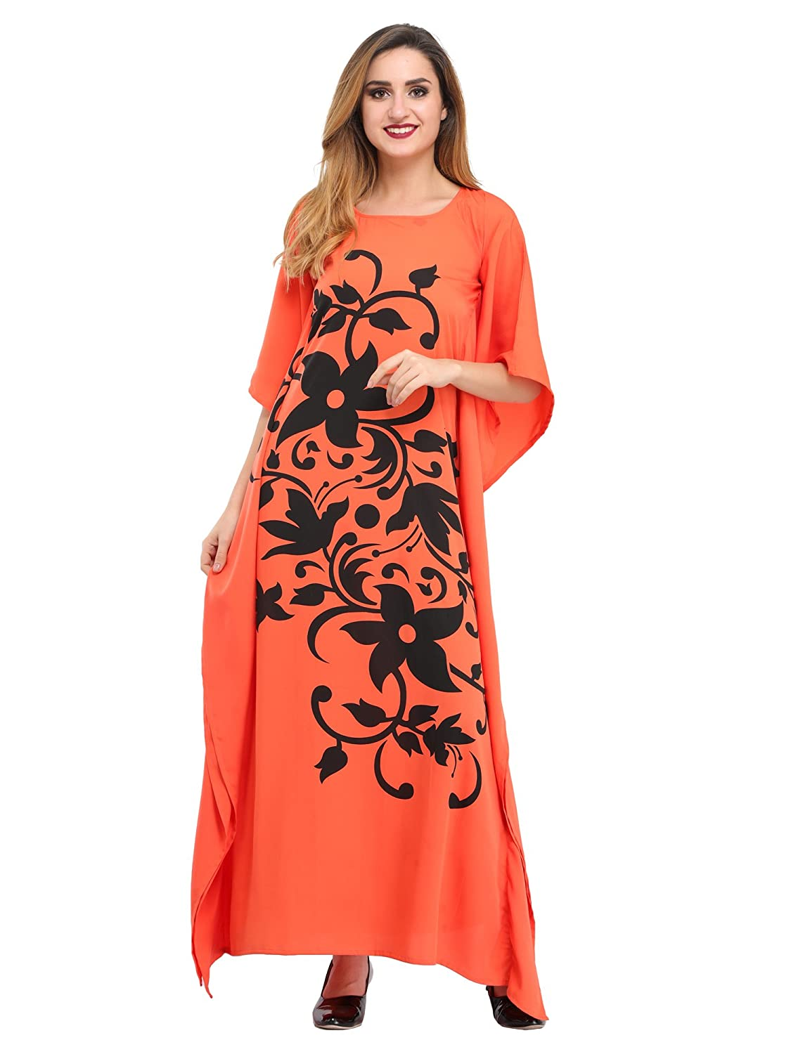 36e7cf74547 cottinfab Maxi Poly Crepe Dress  Amazon.in  Clothing   Accessories