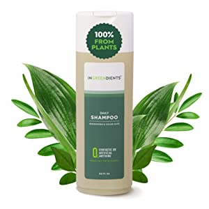 Ingreendients Vegan Shampoo With Organic Ingredients For Sensitive Skin & Scalp pH Balanced - Gluten Free, Sulfate Free, Silicone Free, Cruelty Free, Made With Apple Cider Vinegar & Tea Tree Oil, Color Safe