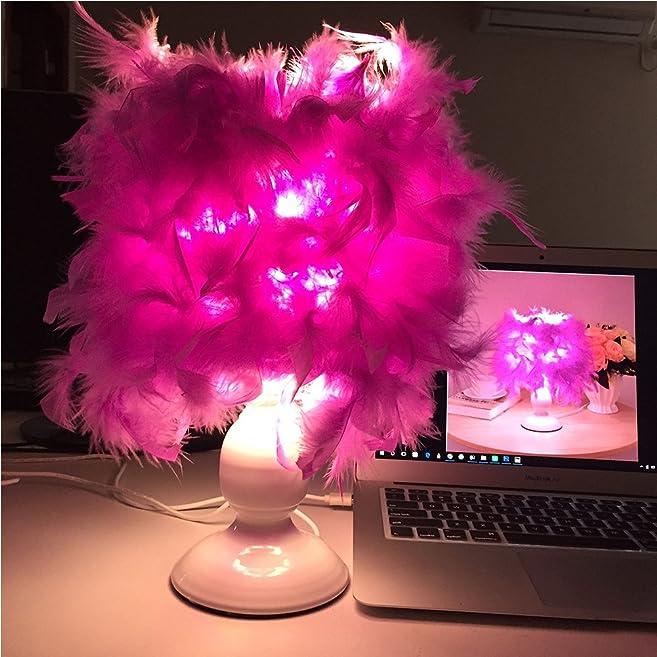Led Table Lamp Purple Bedroom Lamps 12V Usb Desk Lamp Contemporary ...