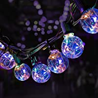 8.7 Meter Buiten Lichtslingers,OxyLED RGB Kleurrijke Koperen Lichtslinger 25+3 LED Tuin Patio Buiten Lichtslingers,Fairy…
