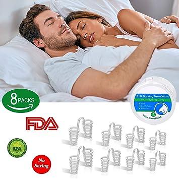 BeYself 8 Sets Dilatador Nasal Anti Ronquidos - Alivia Apnea del Sueño, Respiración Fuerte Y Congestión Nasal: Amazon.es: Salud y cuidado personal