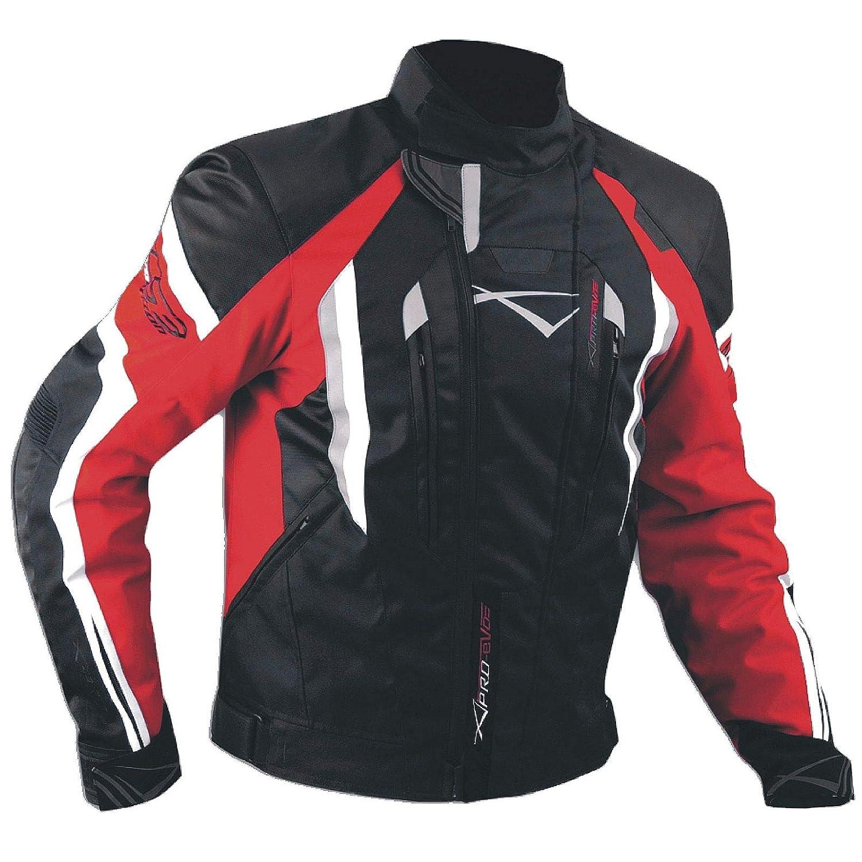 Giacca Cordura Moto Tessuto Impermeabile Sport Touring Sfoderabile Nero XXL